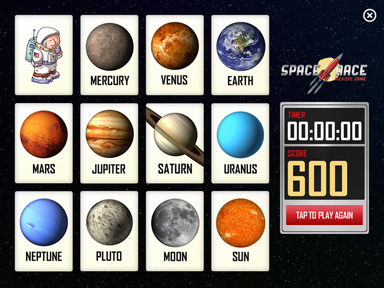 Space Race Memory Game