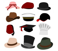 Hats, Caps, Bonnets and Fedoras