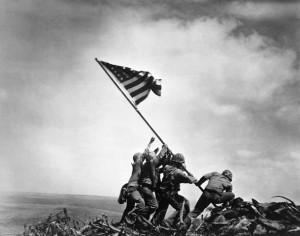 Marines Raising American Flag on Iwo Jima
