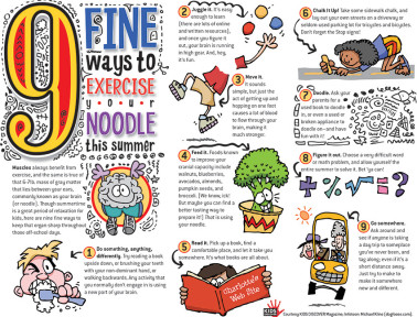 Infotoon: 9 Fine Ways to Exercise Your Noodle This Summer