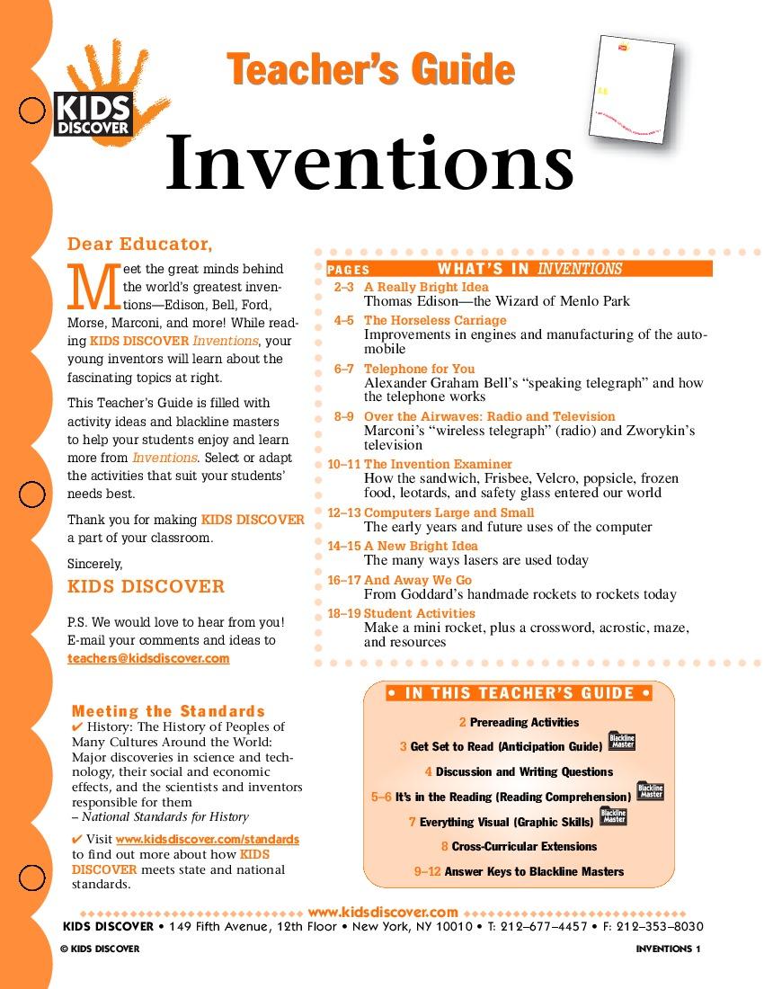 inventions kids discover. Black Bedroom Furniture Sets. Home Design Ideas