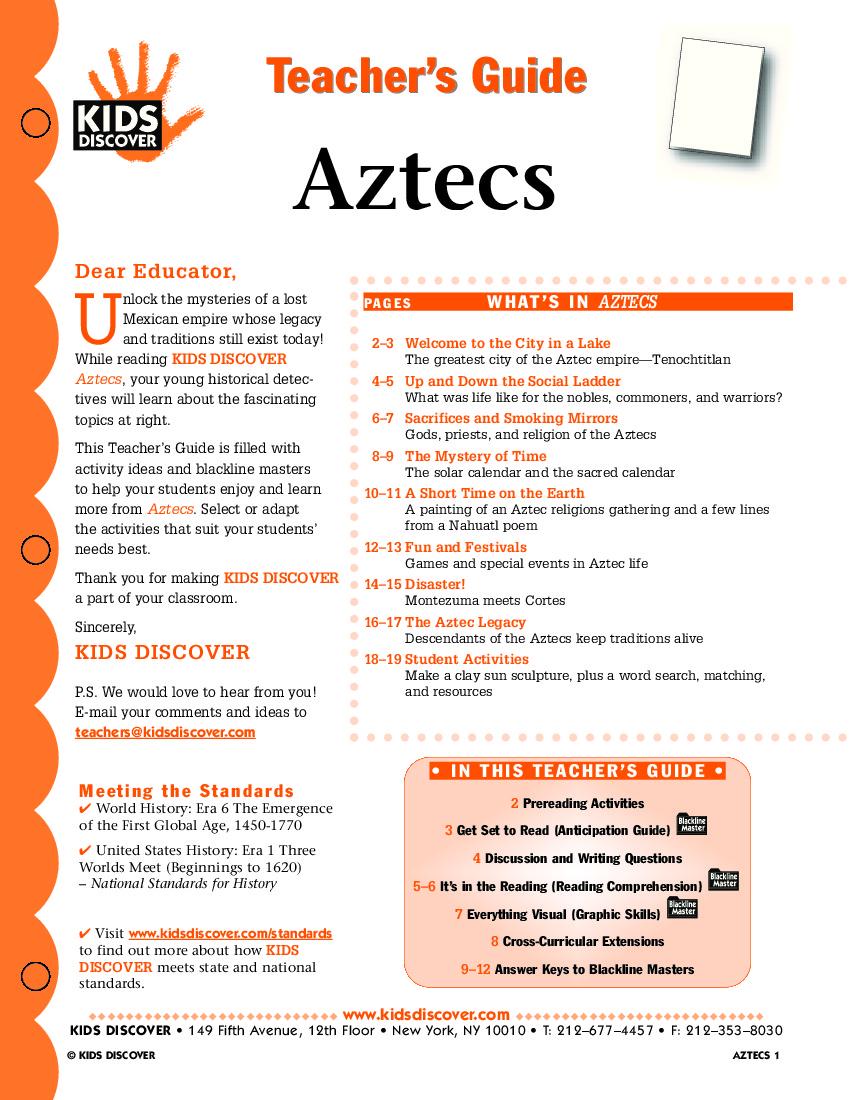 Aztecs Kids Discover