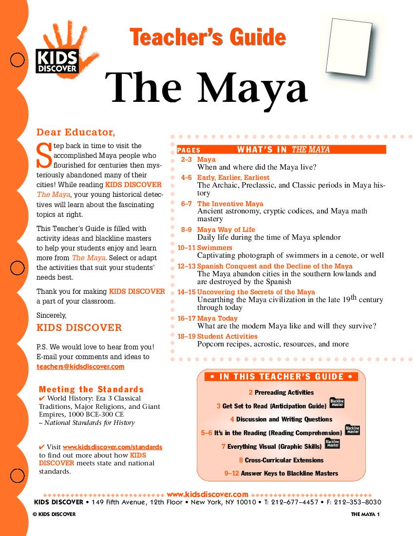 The Maya - KIDS DISCOVER
