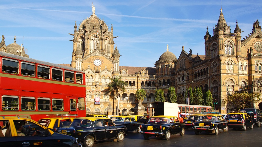 Opened in 1887, Chhatrapati Shivaji Terminus in Mumbai was built as the headquarters for India's steam train network. Designed to look like a palace, it is still the busiest train station in India. (Igor Plotnikov/ Shutterstock)
