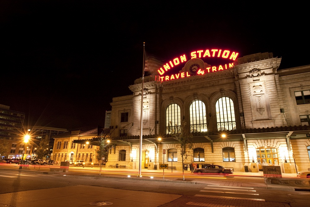 Denver, Colorado, was a dusty, frontier town until it was connected to the transcontinental railway network in 1870. Once the train was running, about 100 new residents began arriving in Denver every day. Opened in 1881, Union Station marked Denver's transformation from frontier outpost to boomtown. (Ambient Ideas/ Shutterstock)