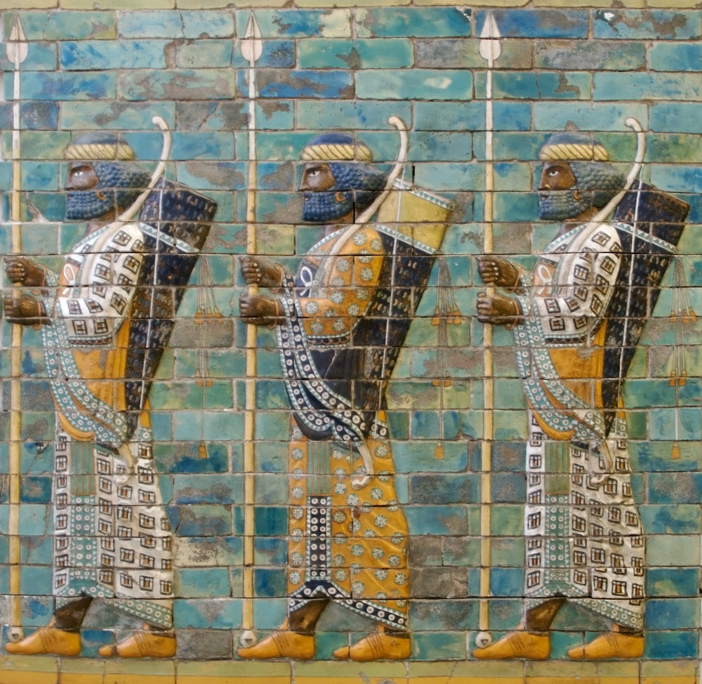 This relief from Babylon (in modern-day Iraq) shows three ancient Assyrian warriors. Although war and victory were celebrated in the artwork of ancient empires, being constantly at war and invading new territories was expensive. Emperors had to pay for weapons, food, clothes, and supplies for their armies. Sometimes the heavy cost of maintaining an empire led to its demise.  (jsp/ Shutterstock)