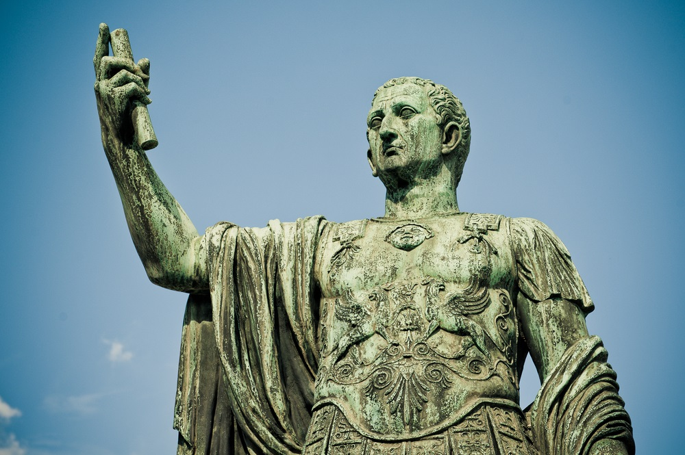 This bronze statue of Julius Caesar stands in Rome today. (Shaun Jeffers/ Shutterstock)