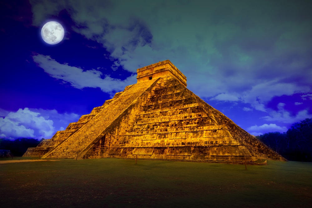 This temple at Chichen Itza in Mexico was dedicated to Kukulkan, the Maya serpent god. (Patryk Kosmider/ Shutterstock)
