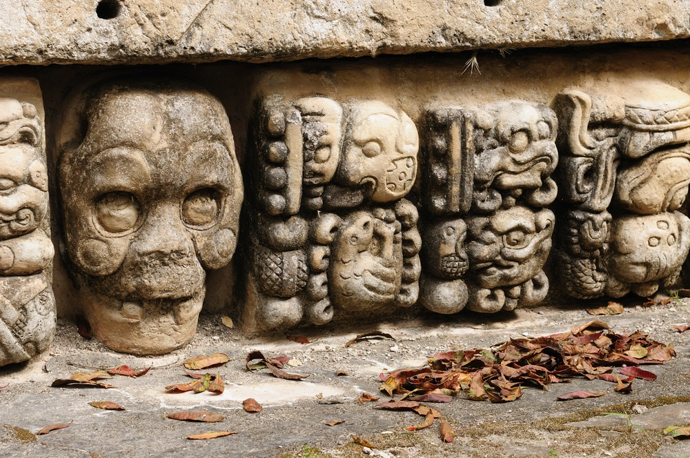 The ancient city of Copán was one of the most important ceremonial centers in the Maya world. This temple wall contains sculpted glyphs that chronicle the city's royal history. (Rafal Chichawa/ Shutterstock)