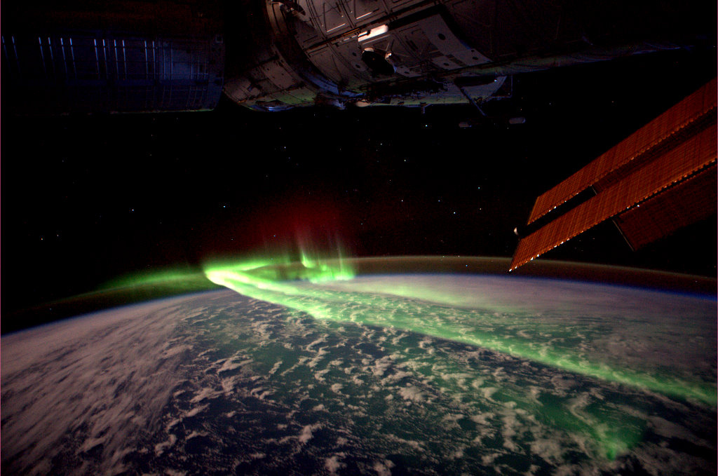 This photo of an aurora was taken from the International Space Station. (André Kuipers / ESA)
