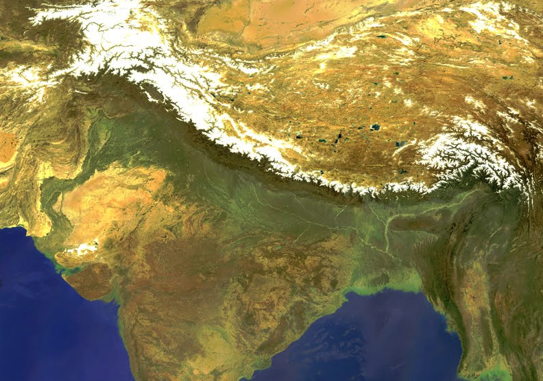 India continues its collision into the continent of Asia, and as a result, pushes the Himalayas ever higher.