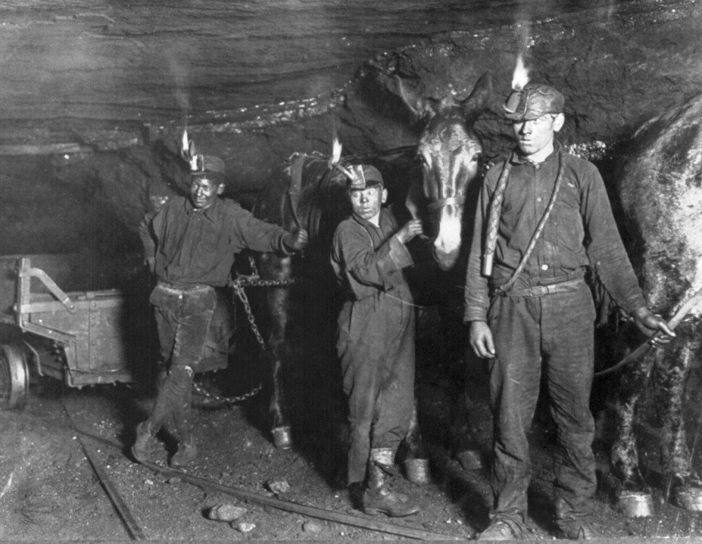 Even kids worked in coal mines until laws were passed that made child labor illegal. (Library of Congress, Lewis Wickes Hine)