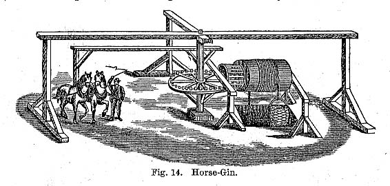 A horse engine could be used to lift floodwater, coal, or even miners out of underground tunnels of a coal mine. Some horse engines were used to grind grain on farms. (http://www.scottishmining.co.uk/)