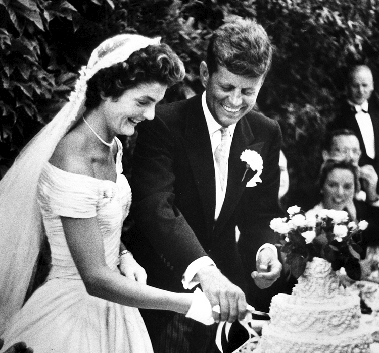 JFK and Jackie Bouvier got married in 1953, soon after JFK was elected U.S. Senator from Massachusetts. (John F. Kennedy Presidential Library and Museum, Boston)