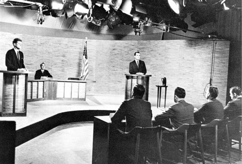 The first-ever televised presidential debate sunk Nixon's chances. Refusing to wear make-up for the cameras, he sweated heavily under the hot lights. Kennedy made a much better first impression and that translated into votes on election day. Seventy million people watched the first TV debate between Kennedy and Nixon. (Public Domain)