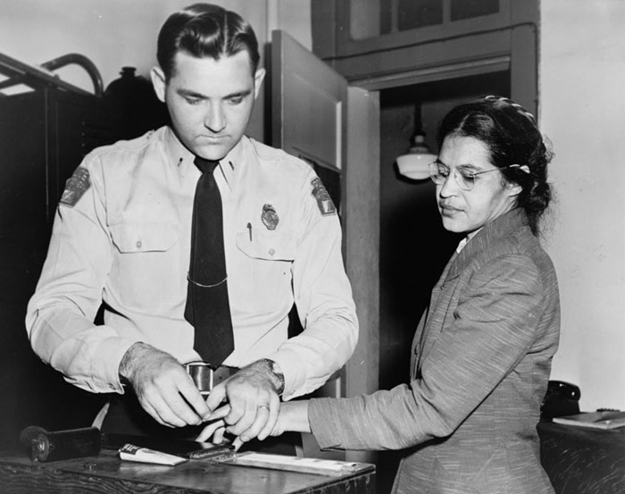 After Rosa Parks was arrested, she was booked and fingerprinted. (American Spirit / Shutterstock)
