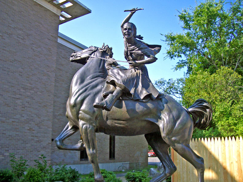 Image result for sybil ludington statue