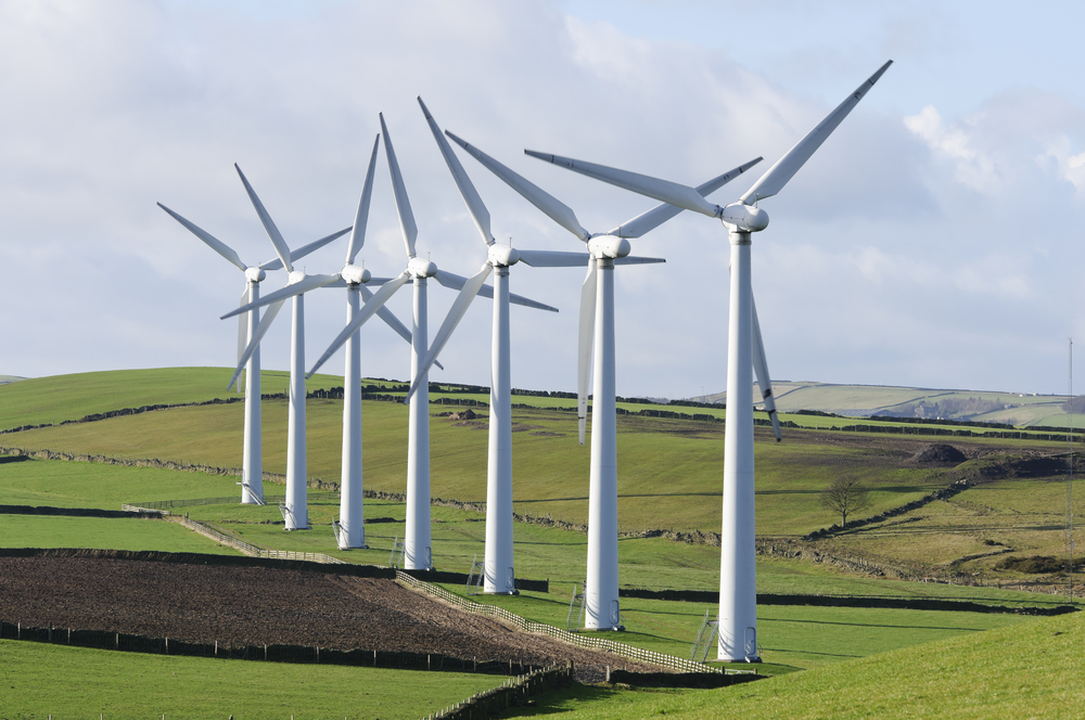 Wind turbines at the Royd Moor Wind Farm in South Yorkshire, England. (Stephen Meese / Shutterstock)