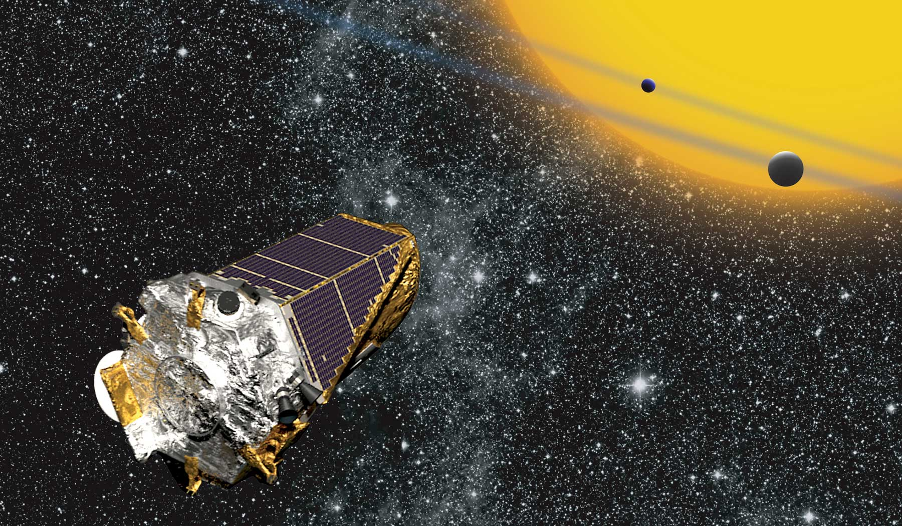 Artist's Rendering of Kepler via NASA