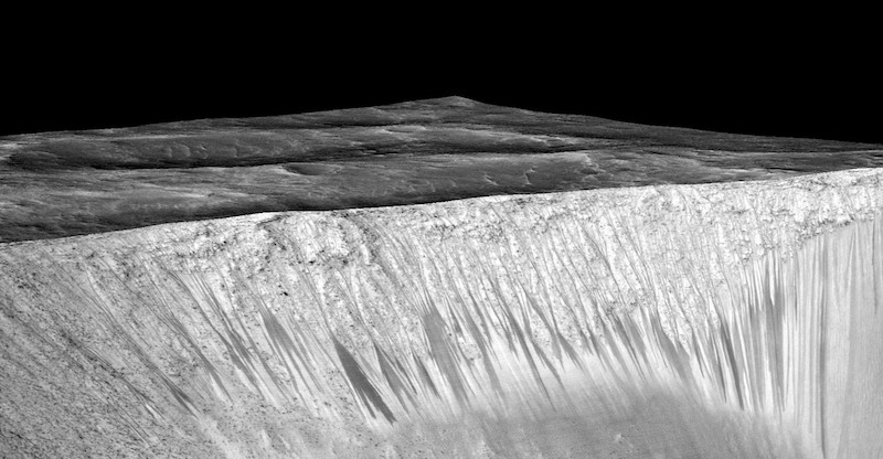 water on mars:nasa