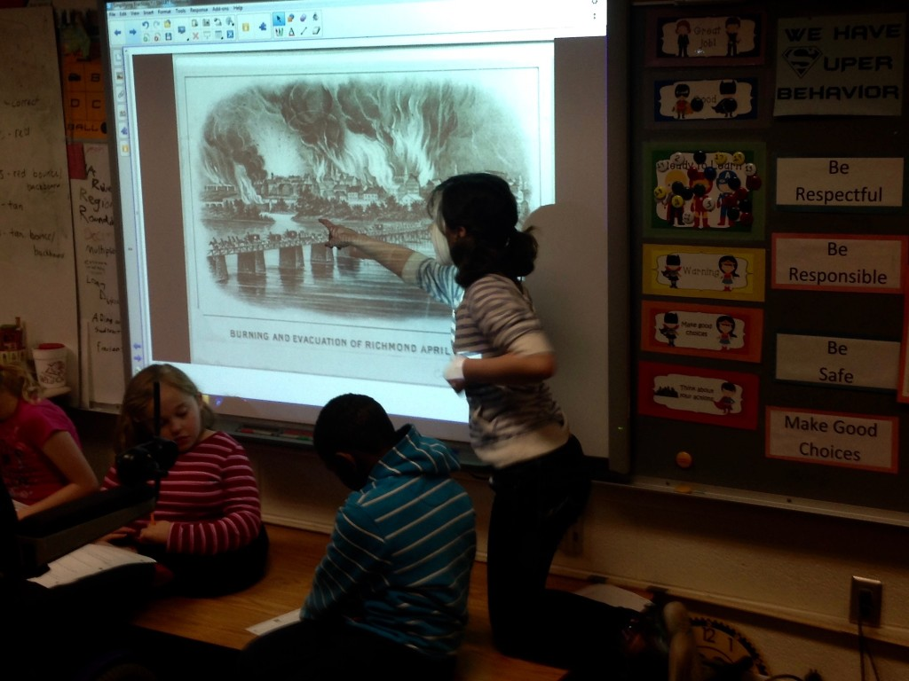 Presenting on the Burning of Richmond