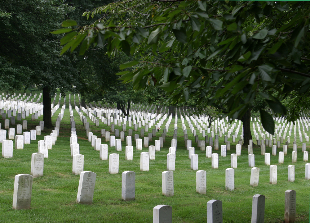 Arlington Cemetery, by Joe Gough/Shutterstock