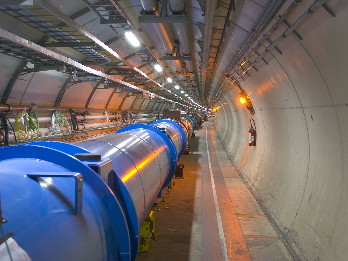 The Large Hadron Collider smashes sub-atomic particles together at enormous energies. Image c/o CERN via NPR