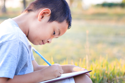 I have discovered one of the best kept secrets of helping kids with their writing- writing for an audience. It's a pleasing thing to write something that you know others will enjoy. (By Vanatchanan:Shutterstock)