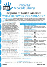 This free Vocabulary Packet for Kids Discover Regions of North America is a systematic and individualized approach to vocabulary development and enables teachers to assist students in improving their reading comprehension skills.
