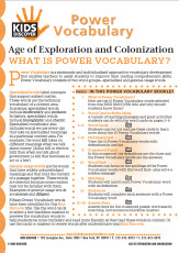 This free Vocabulary Packet for Kids Discover Age of Exploration and Colonization is a systematic and individualized approach to vocabulary development and enables teachers to assist students in improving their reading comprehension skills.