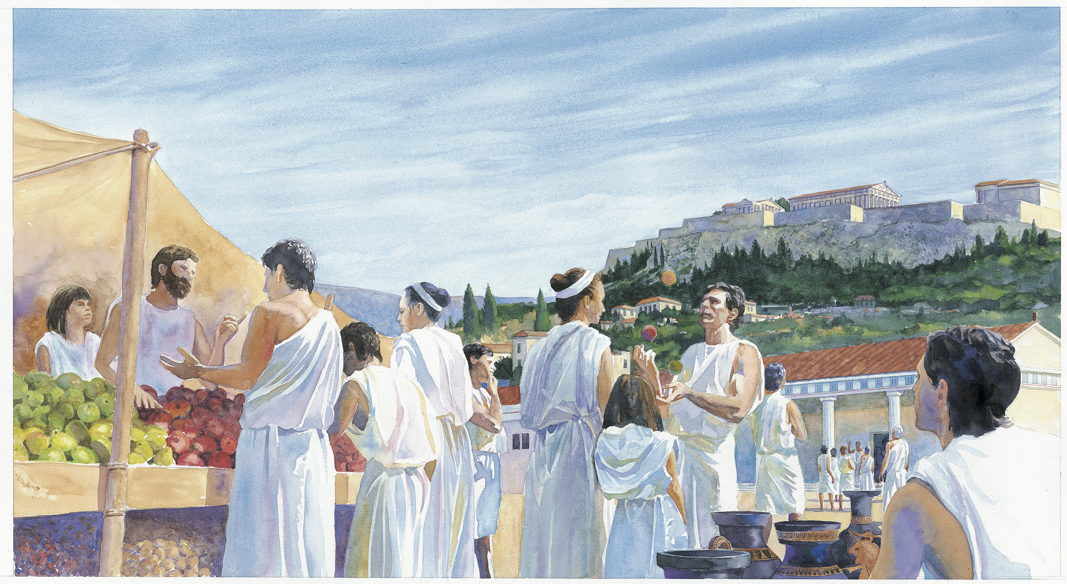 A Rob Wood illustration from Kids Discover Ancient Greece.
