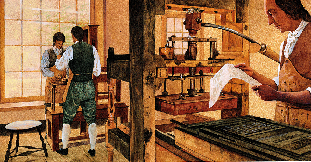 Ben Franklin's Printing and Publishing | Teaching December