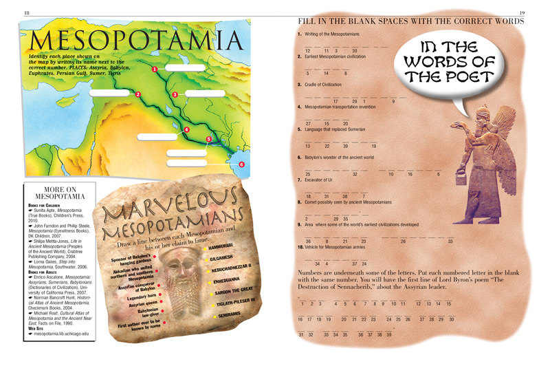 Mesopotamia Kids Discover – Mesopotamia Worksheets