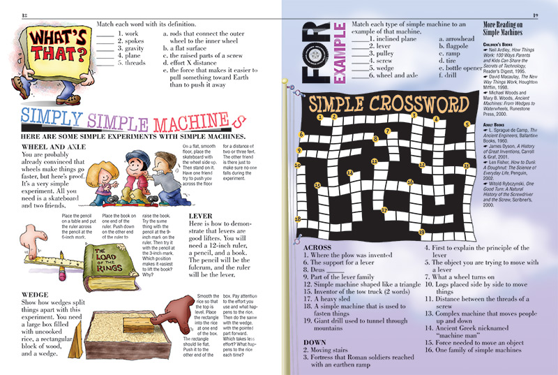 Simple Machines Kids Discover. Previous Next. Worksheet. Simple Machines Crossword Puzzle Worksheet At Mspartners.co