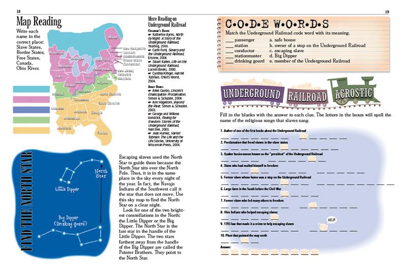Underground Railroad Kids Discover – Underground Railroad Worksheets