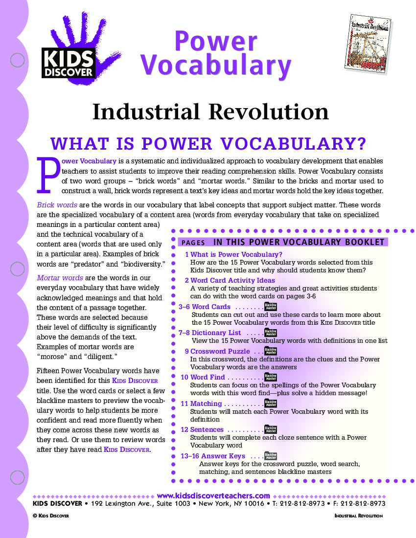 Uncategorized Industrial Revolution Worksheet industrial revolution kids discover pv 111 jpg revolution