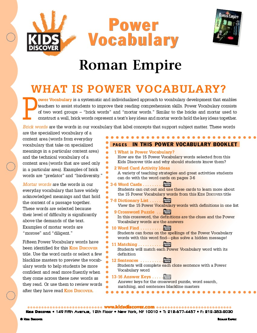 worksheet Roman Empire Worksheets roman empire kids discover pv 022 jpg empire