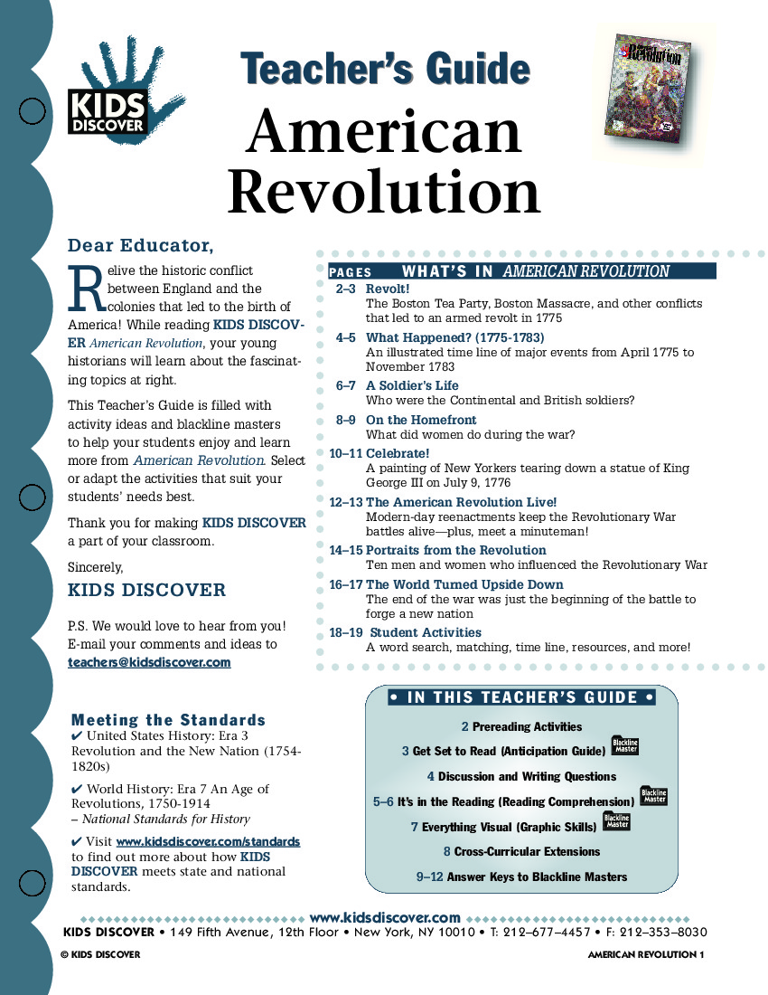 Worksheets American Revolutionary War Worksheets american revolution kids discover tg 074 jpg