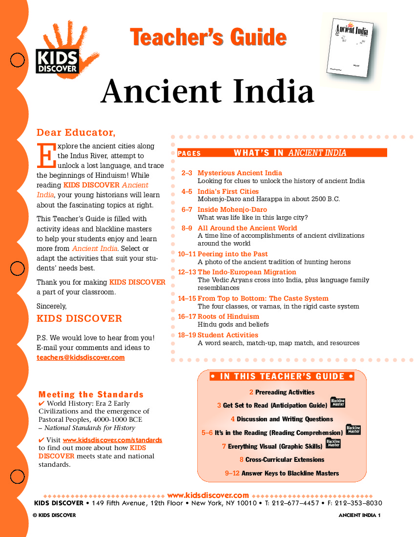 Ancient India Kids Discover