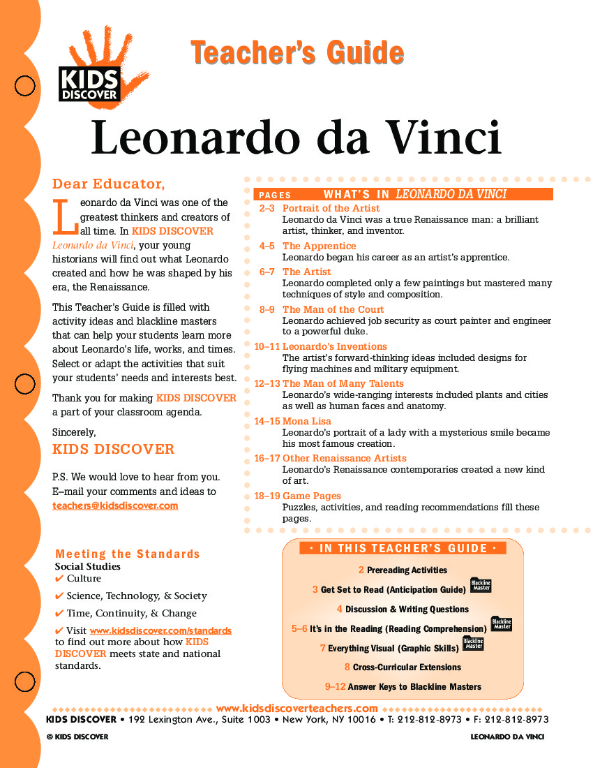 quiz on leonardo da vinci Throughout history, many individuals of a brilliant temperament have been labeled as eccentric or mad geniuses of these legendary men and women, one of the world's first and perhaps the most famous was leonardo da vinci.