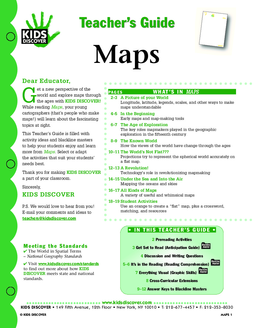 Maps Kids Discover - Map making for kids