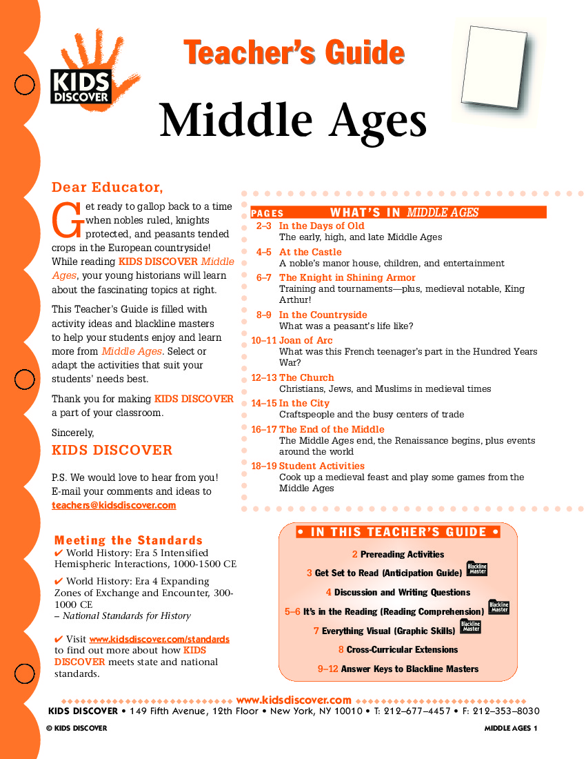 Middle Ages Kids Discover