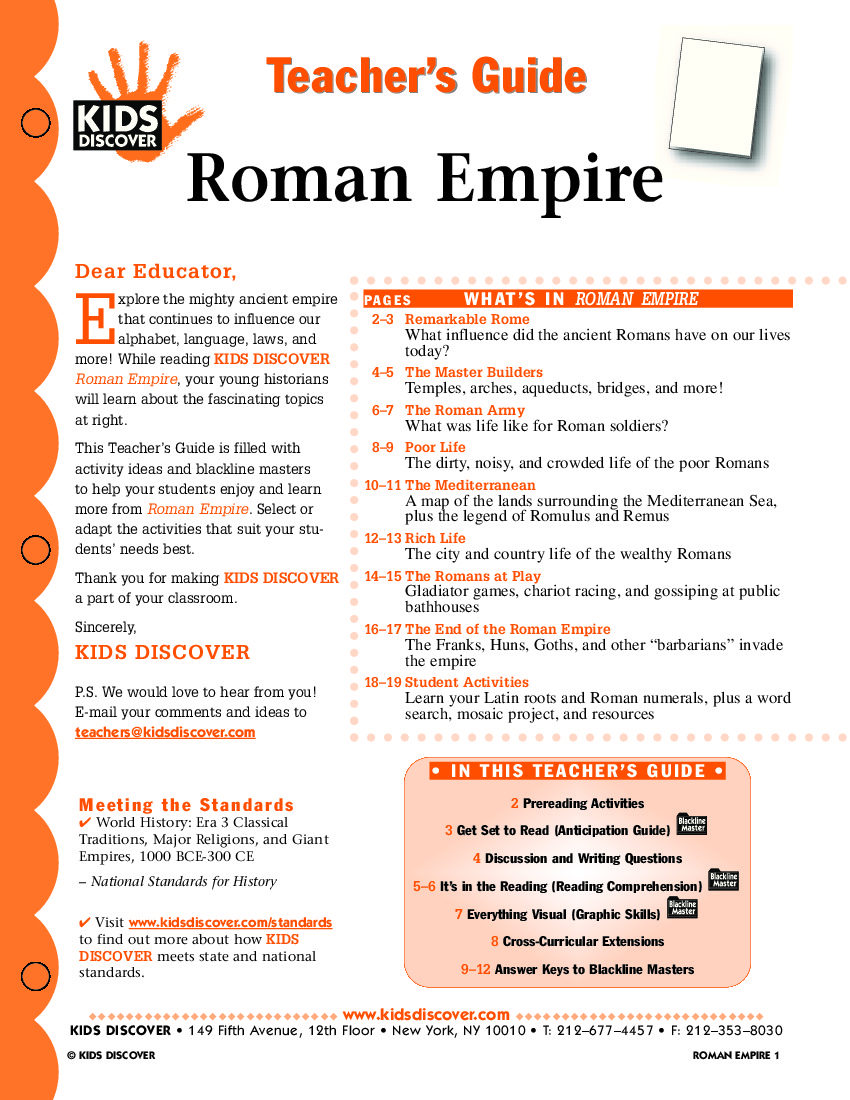 Worksheets Roman Empire Worksheet roman empire kids discover tg 022 jpg empire