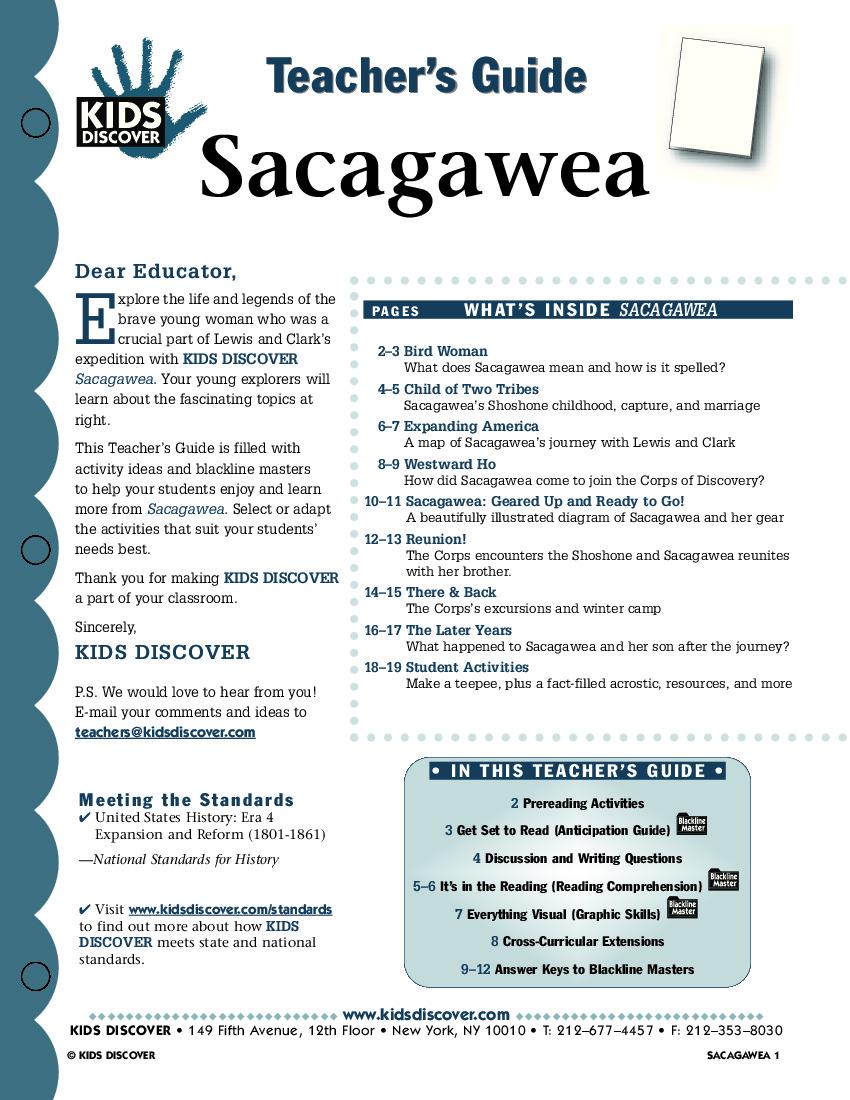 image regarding Lewis Clark Printable Activities called Sacagawea - Small children Obtain