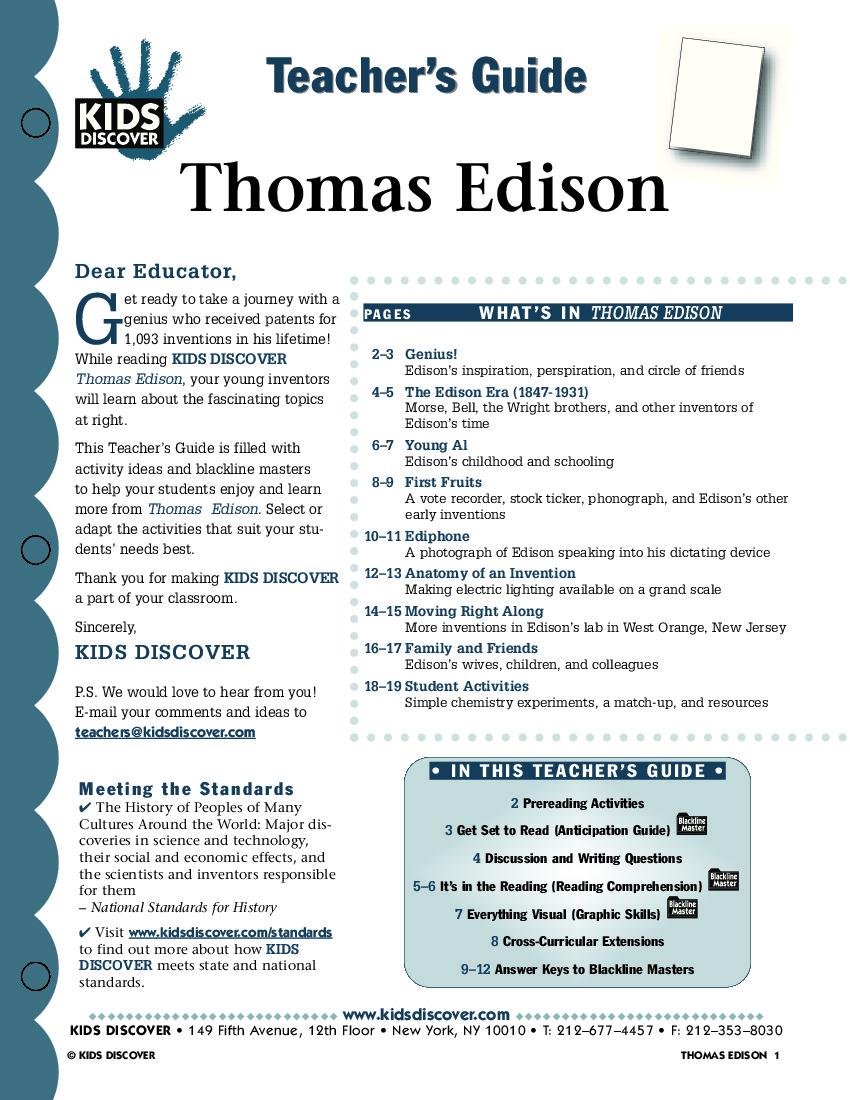 edison - kids discover