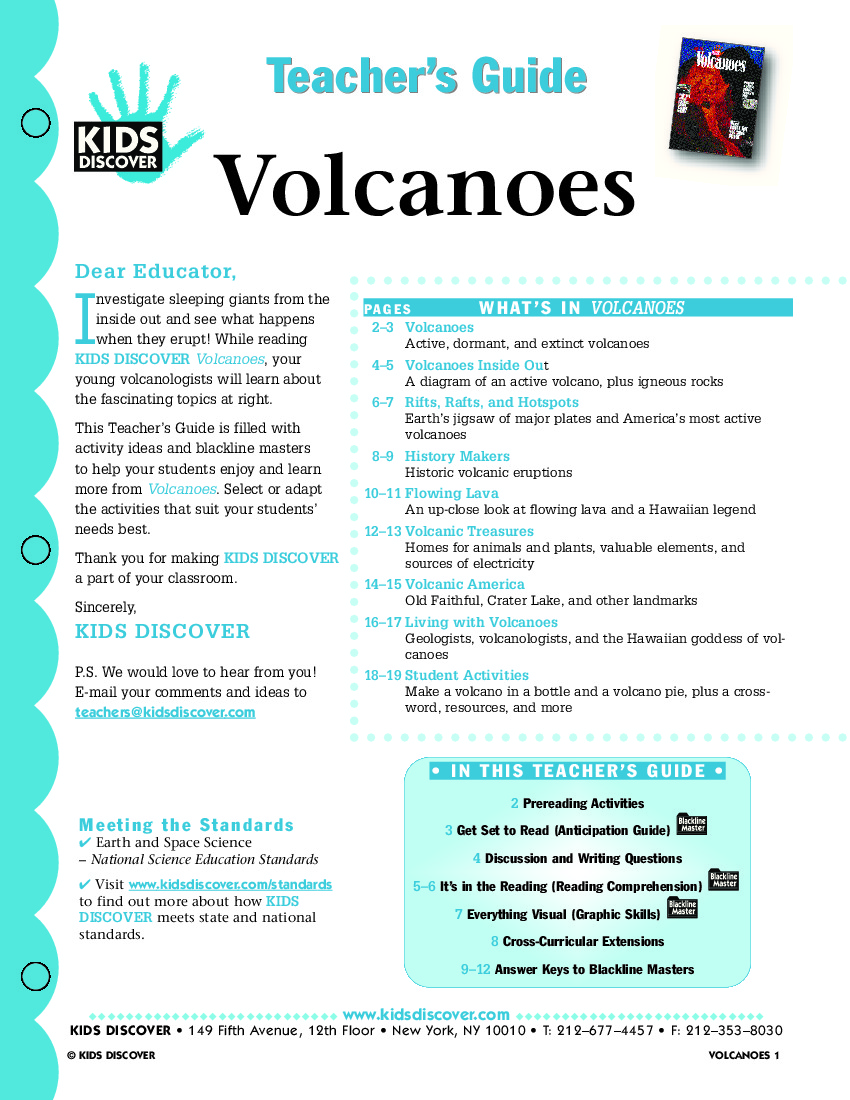 worksheet Earthquakes And Volcanoes Worksheet volcanoes kids discover tg 021 jpg free download