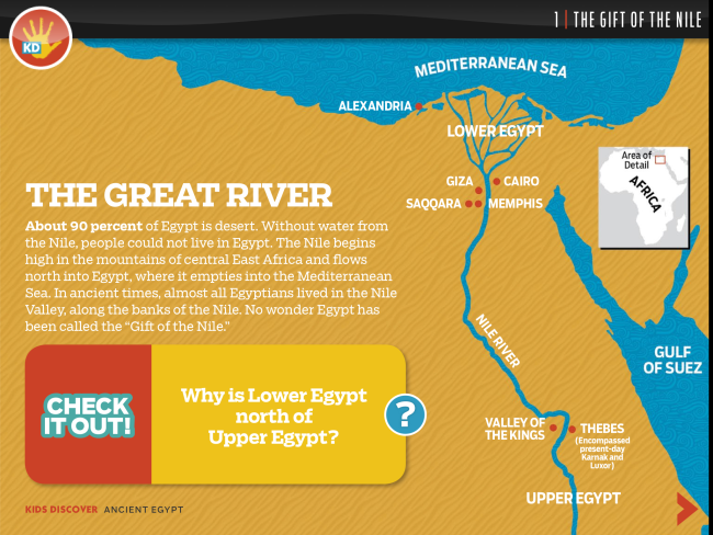 Ancient Egypt For IPad Kids Discover - Map of ancient egypt for students