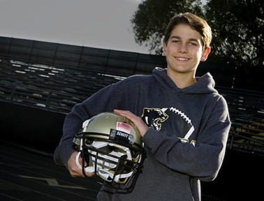 Teen Football Player Braeden Benedict Invents Helmet-Mounted Concussion Sensor