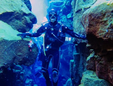 The Silfra Crack, Where Divers Can Touch Two Continents at Once