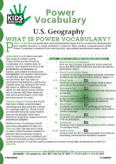This free Vocabulary Packet for Kids Discover U.S. Geography is a systematic and individualized approach to vocabulary development and enables teachers to assist students in improving their reading comprehension skills.